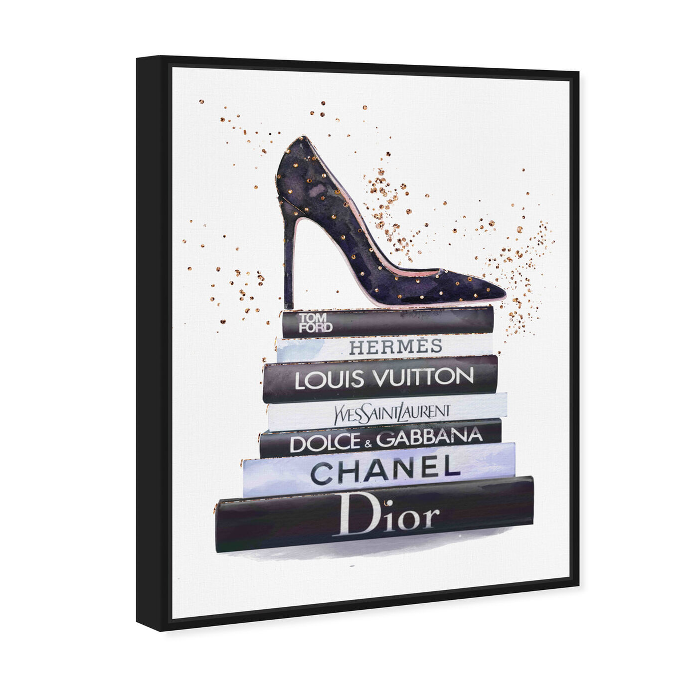 Angled view of Glam Shoe at daytime featuring fashion and glam and shoes art.