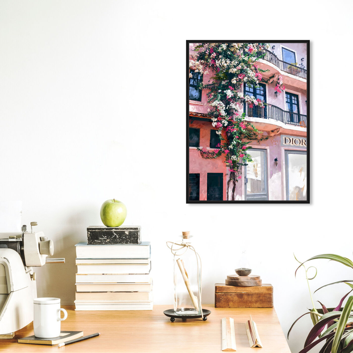Hanging view of French Floral Fashion Boutique featuring fashion and glam and road signs art.