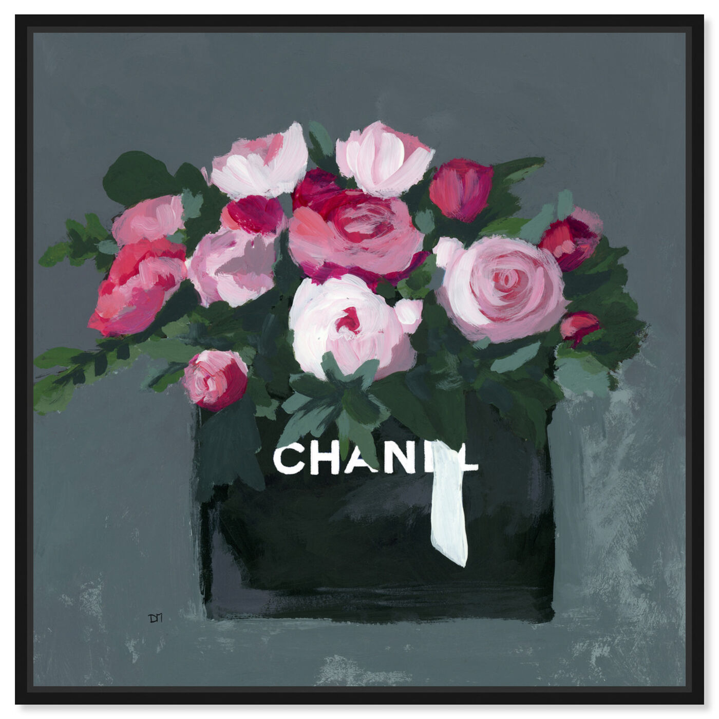 Front view of Pink Bouquet featuring fashion and glam and lifestyle art.