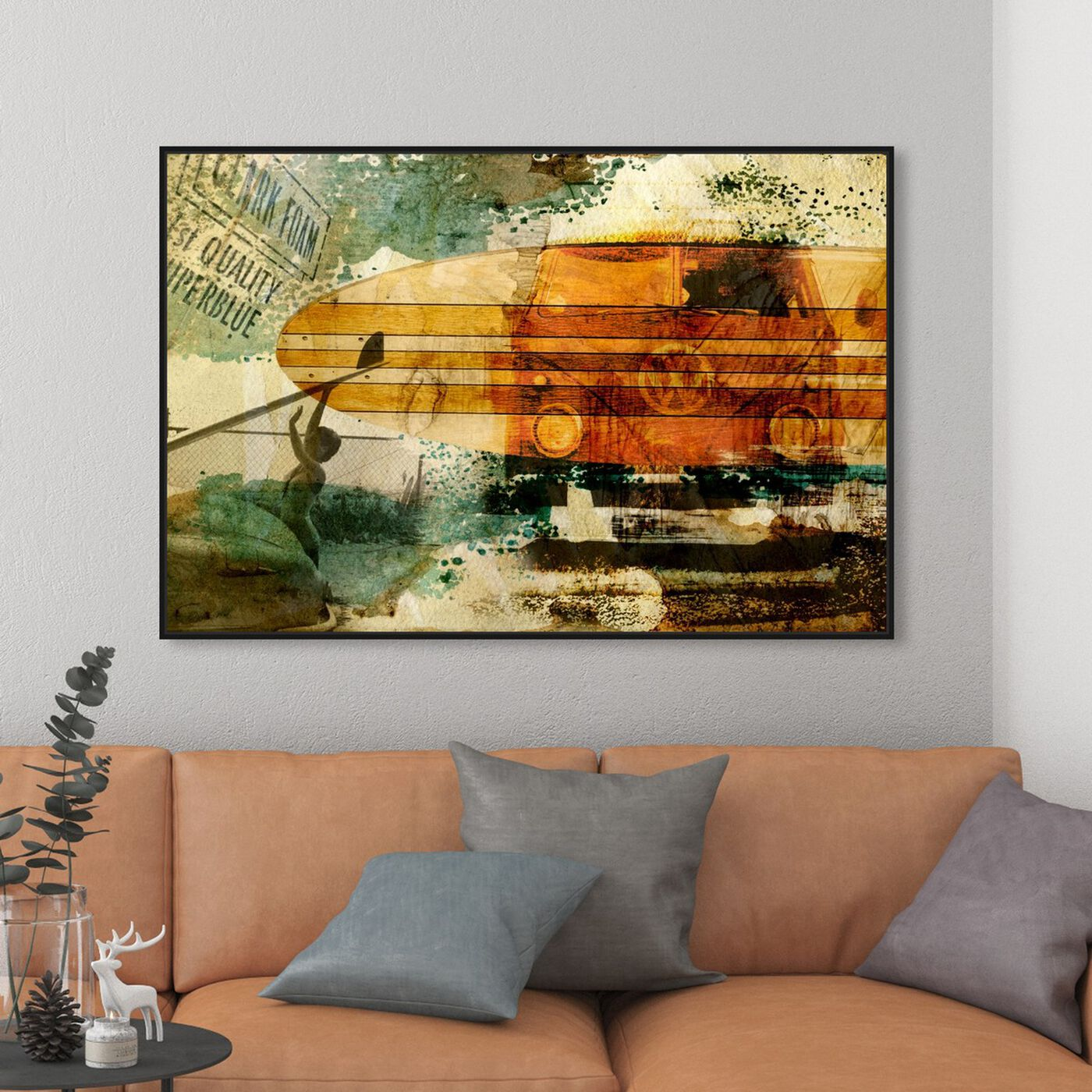 Hanging view of Quality Superblue featuring nautical and coastal and nautical sports art.