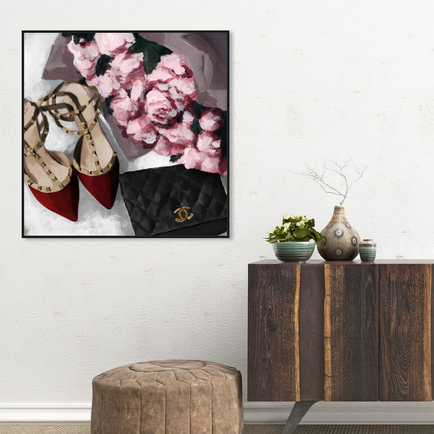 Hanging view of All Things Lovely featuring fashion and glam and shoes art.