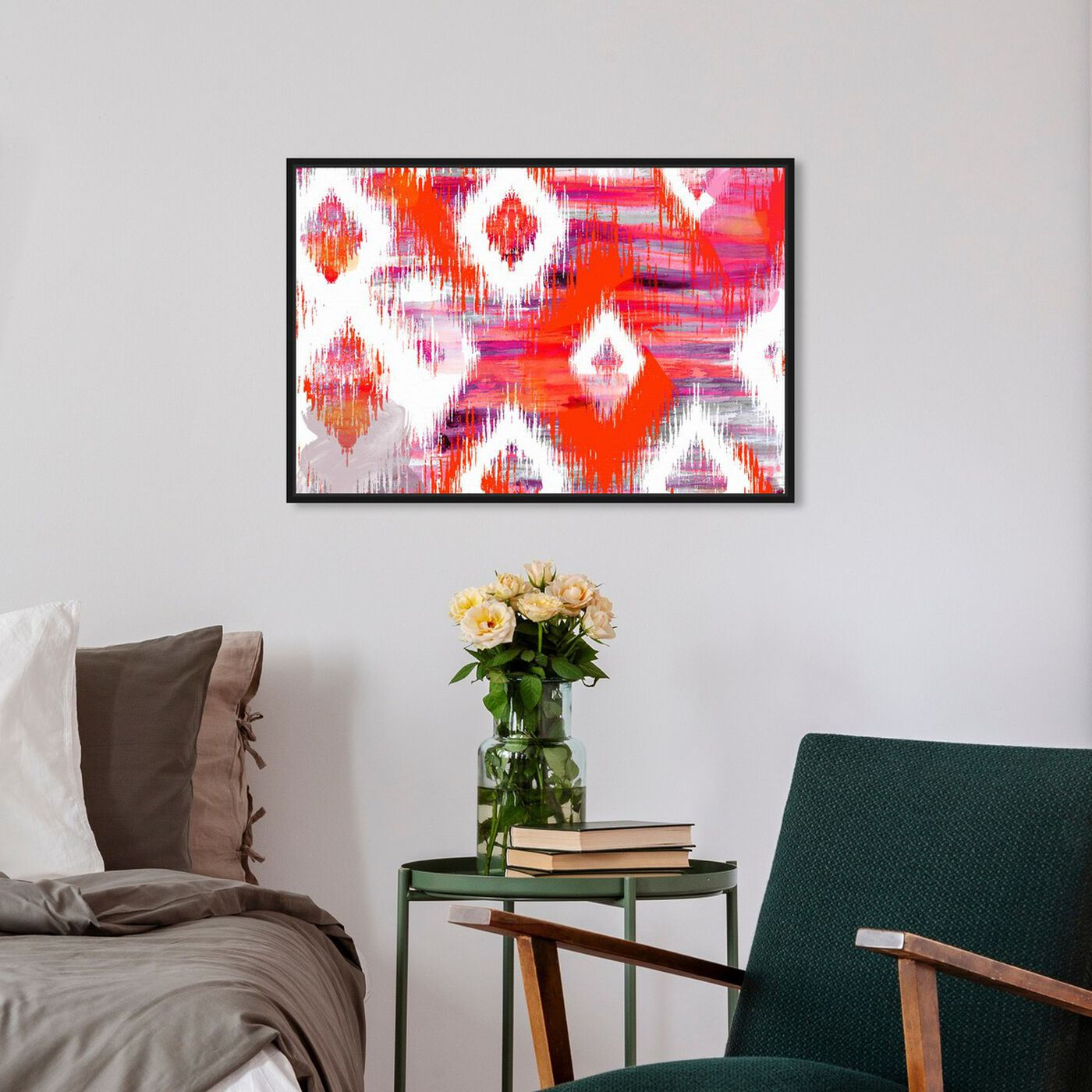 Hanging view of Hello Summer! featuring abstract and geometric art.