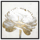 Front view of Gold and Light Floral II White featuring floral and botanical and florals art. image number null