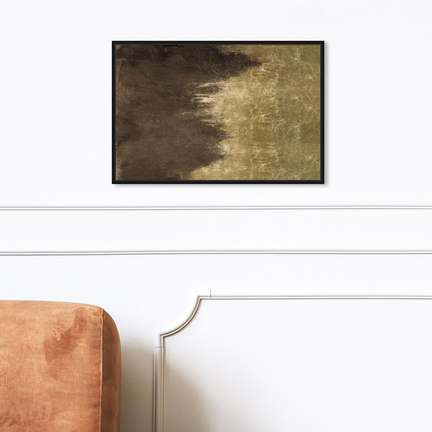 Hanging view of Light Symphony in Brown featuring abstract and paint art.