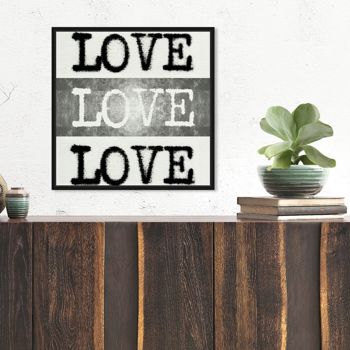 Hanging view of Phylum Design - Poet's Love featuring typography and quotes and love quotes and sayings art.