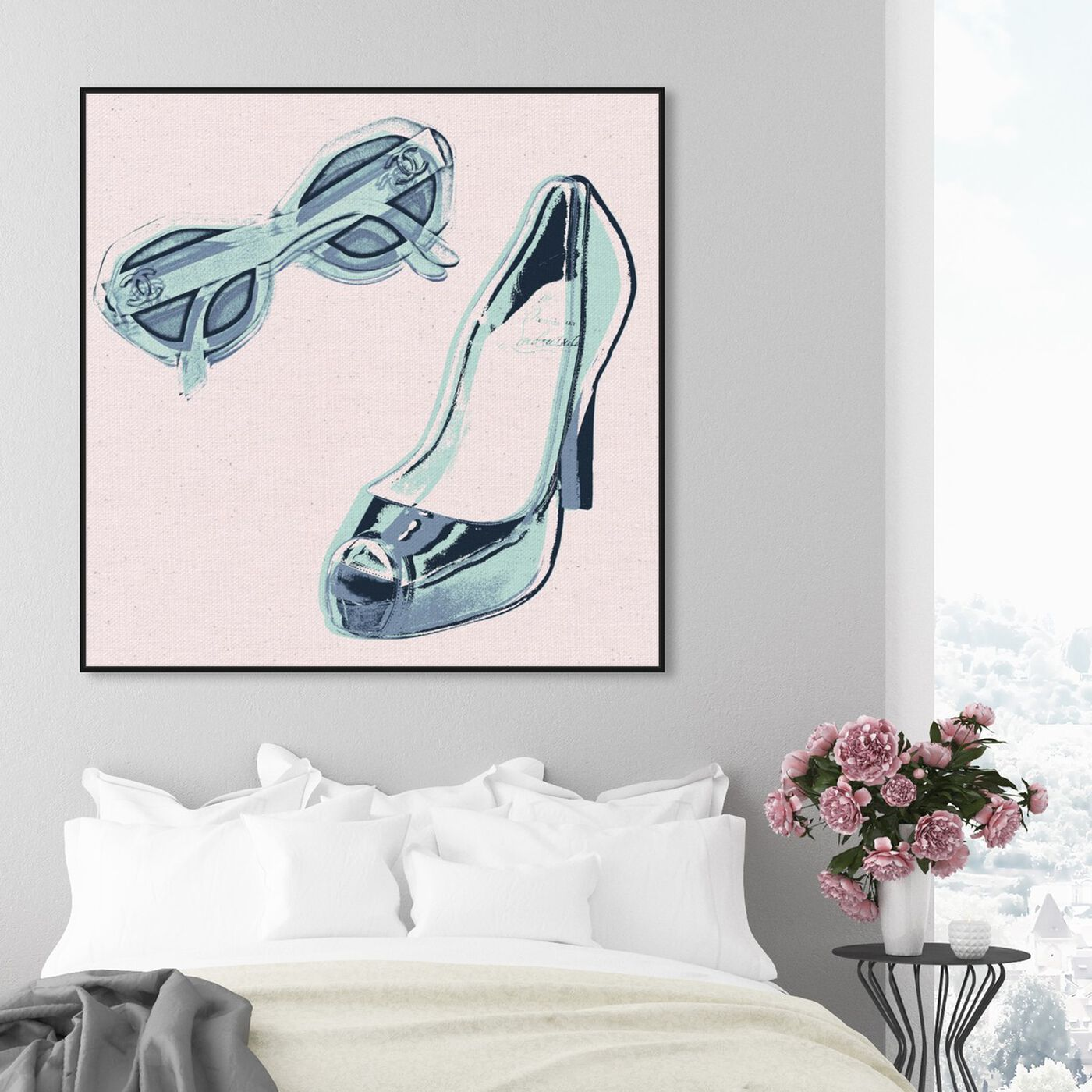 Hanging view of All She Needs at the Sea featuring fashion and glam and shoes art.