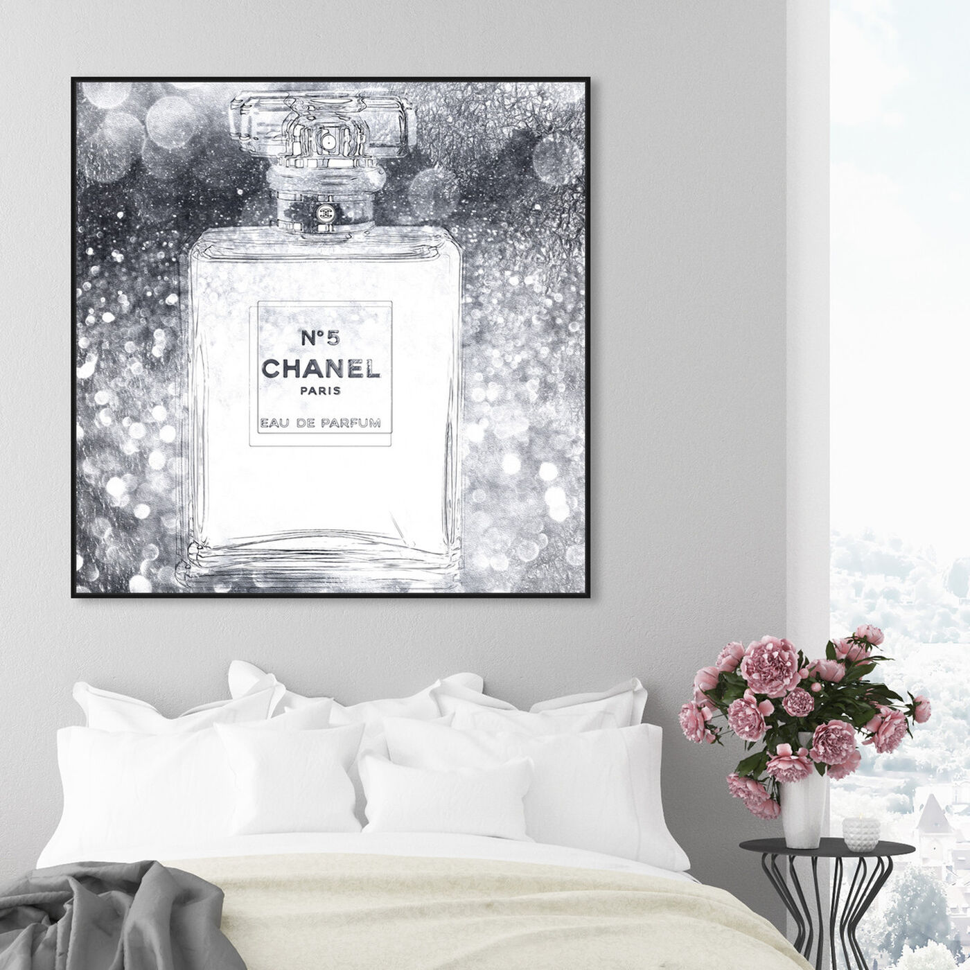 Hanging view of Basenote is Silver featuring fashion and glam and perfumes art.