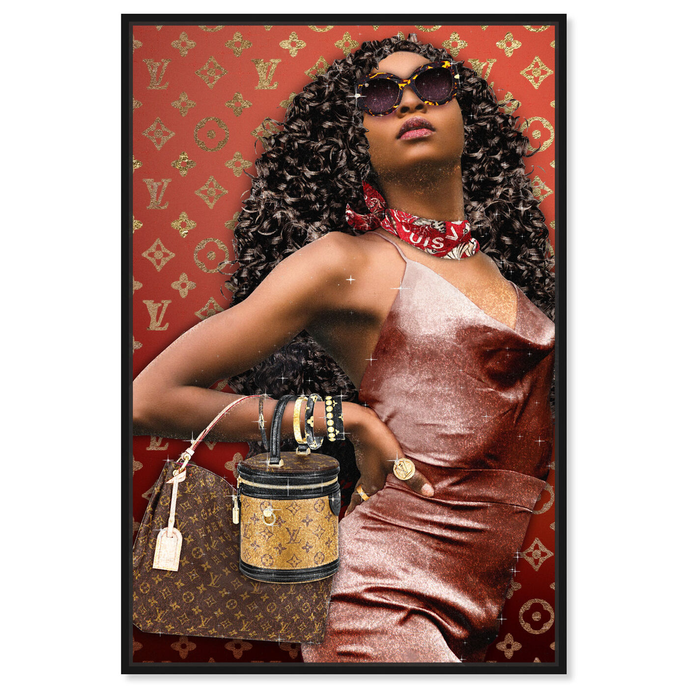Front view of Bye Girl Bye featuring fashion and glam and handbags art.