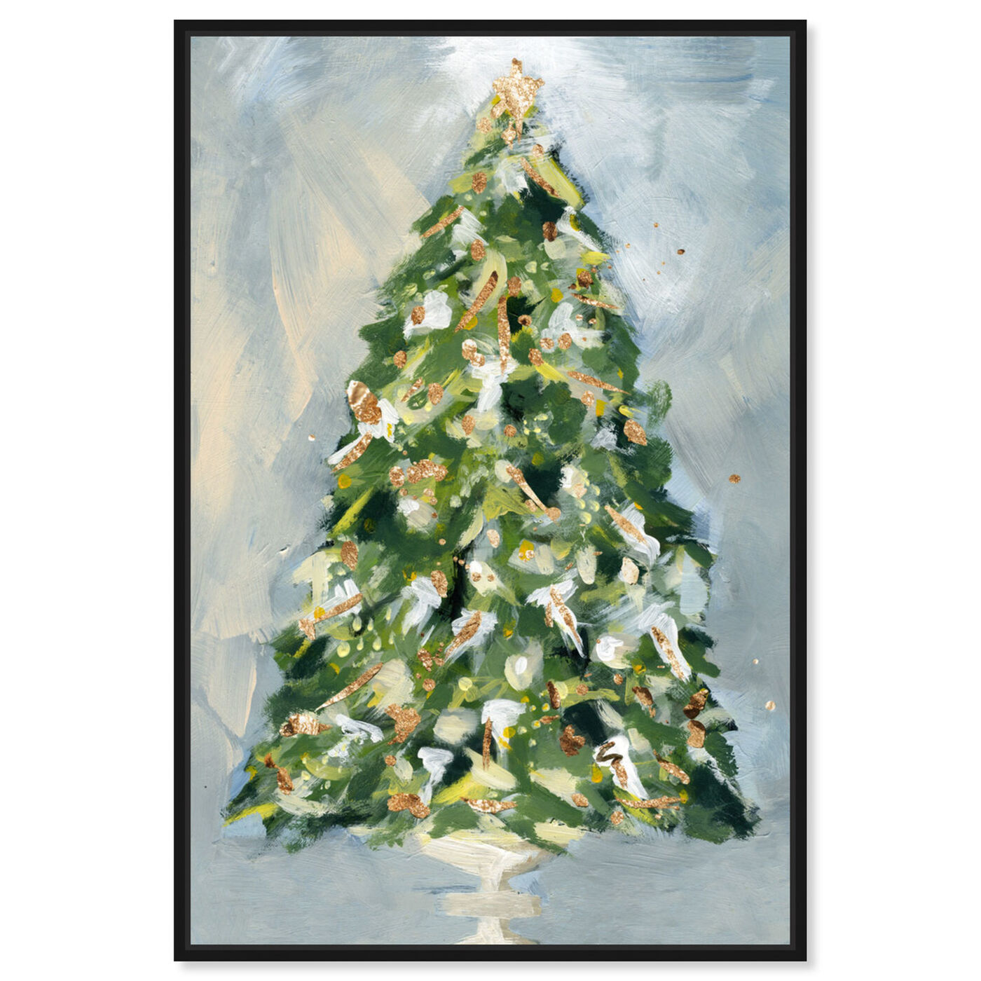 Front view of Christmas Tree 3 featuring holiday and seasonal and holidays art.