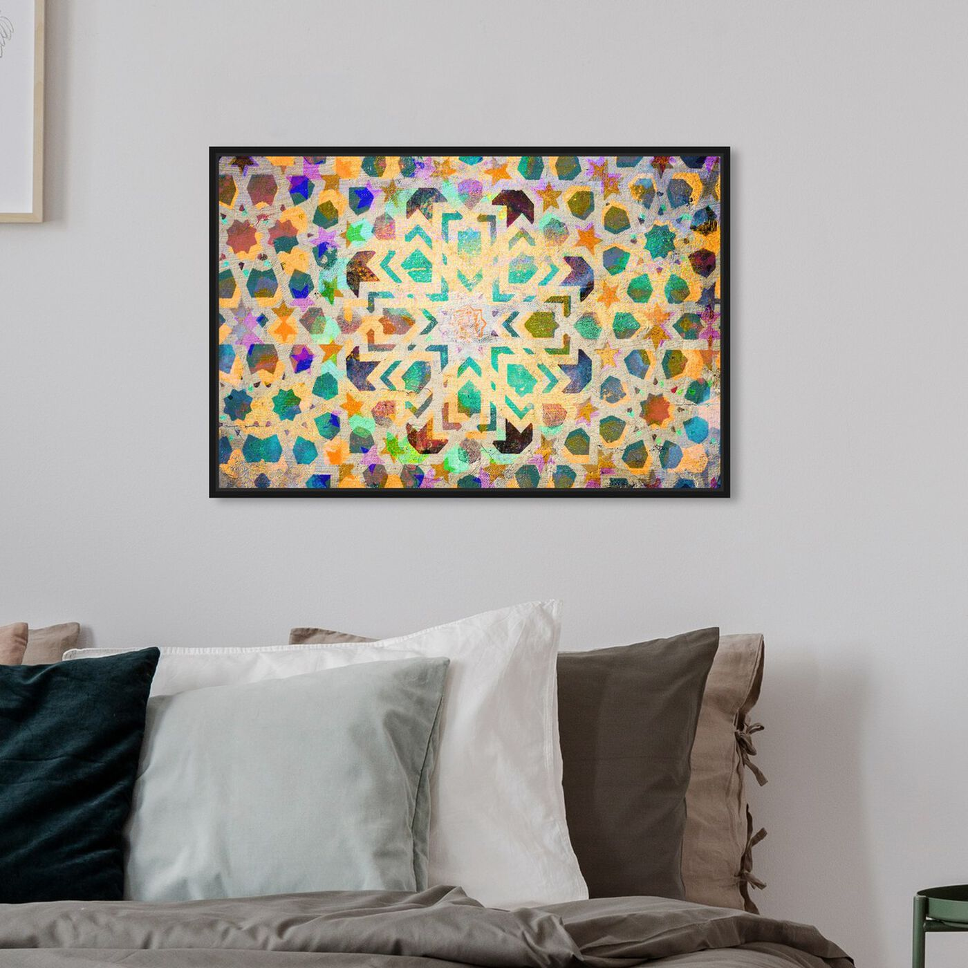 Hanging view of Sarcana II featuring abstract and patterns art.