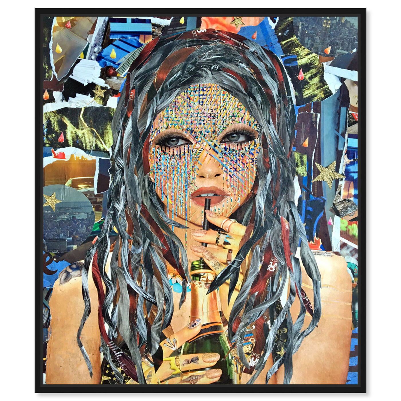 Front view of Rose All Day by Katy Hirschfeld featuring fashion and glam and portraits art.