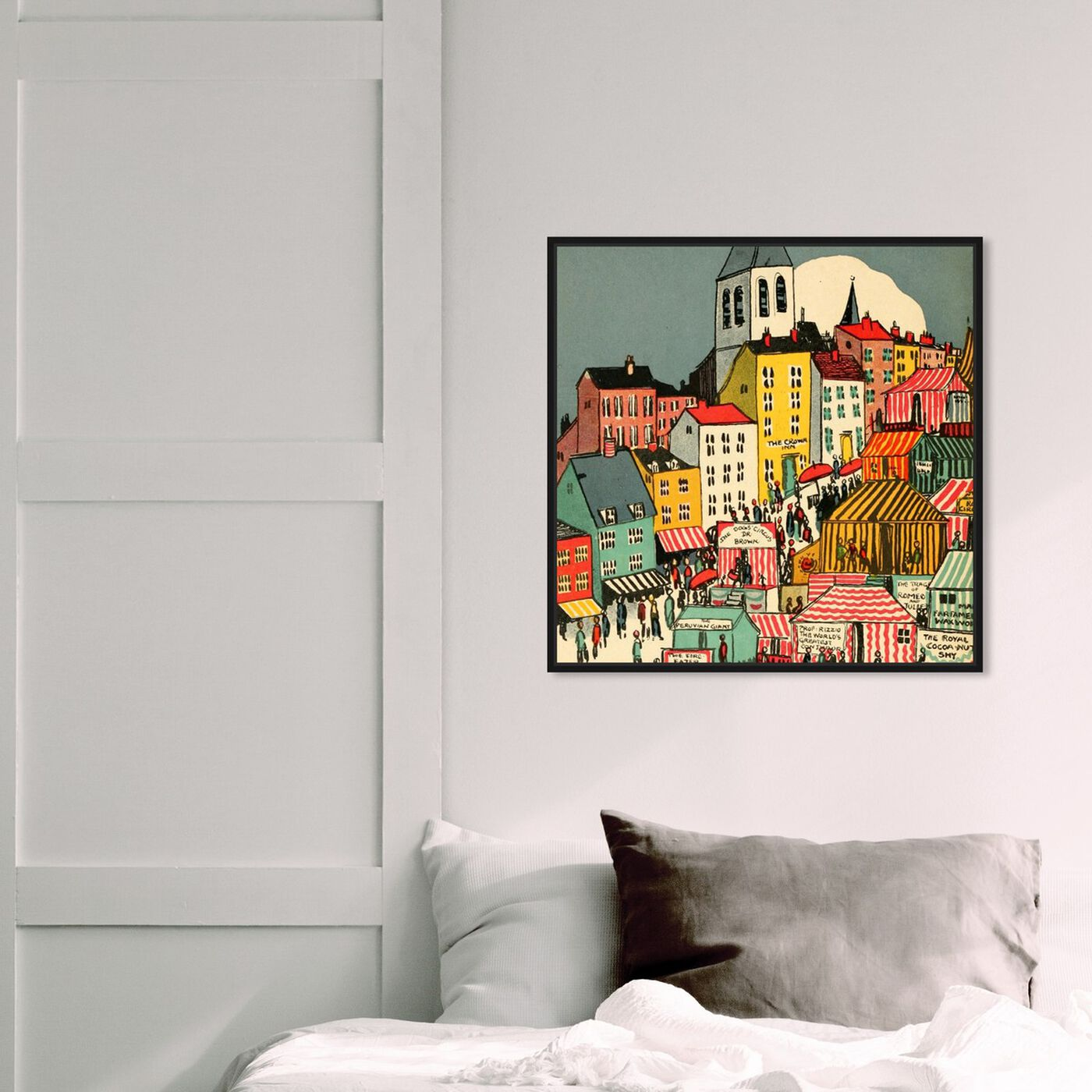Hanging view of Little Town featuring cities and skylines and urban and cityscapes art.