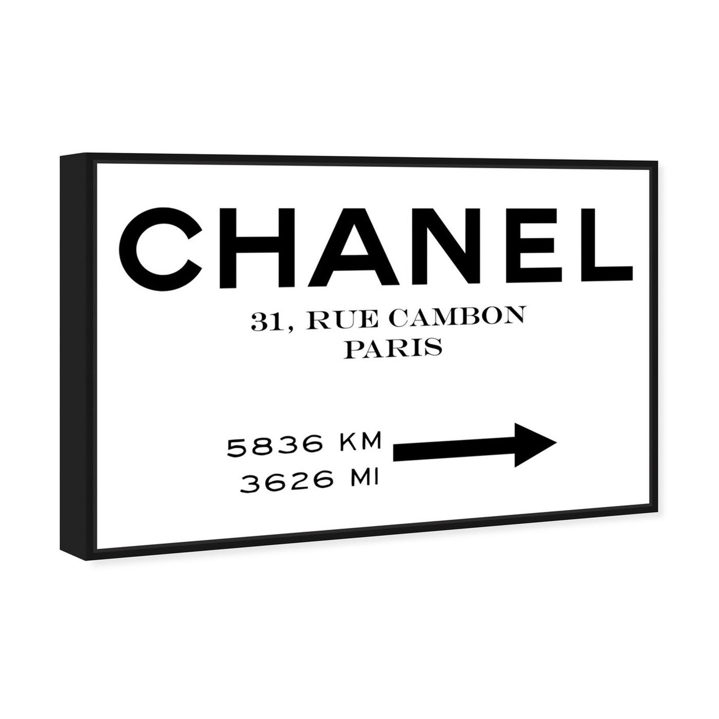 Angled view of Couture Road Sign Minimalist I featuring fashion and glam and road signs art.