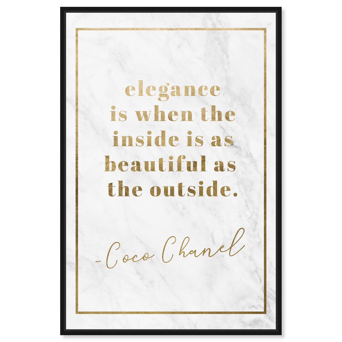 Front view of Elegance is Beautiful Gold featuring fashion and glam and lifestyle art.
