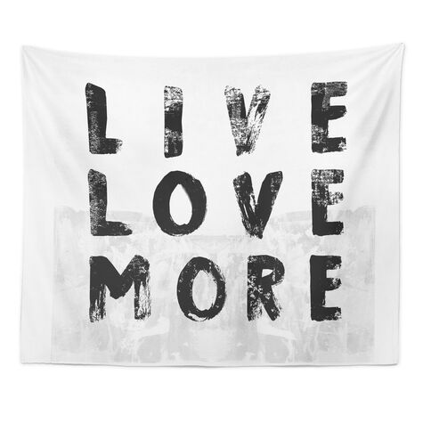 Live and Love Tapestry Art