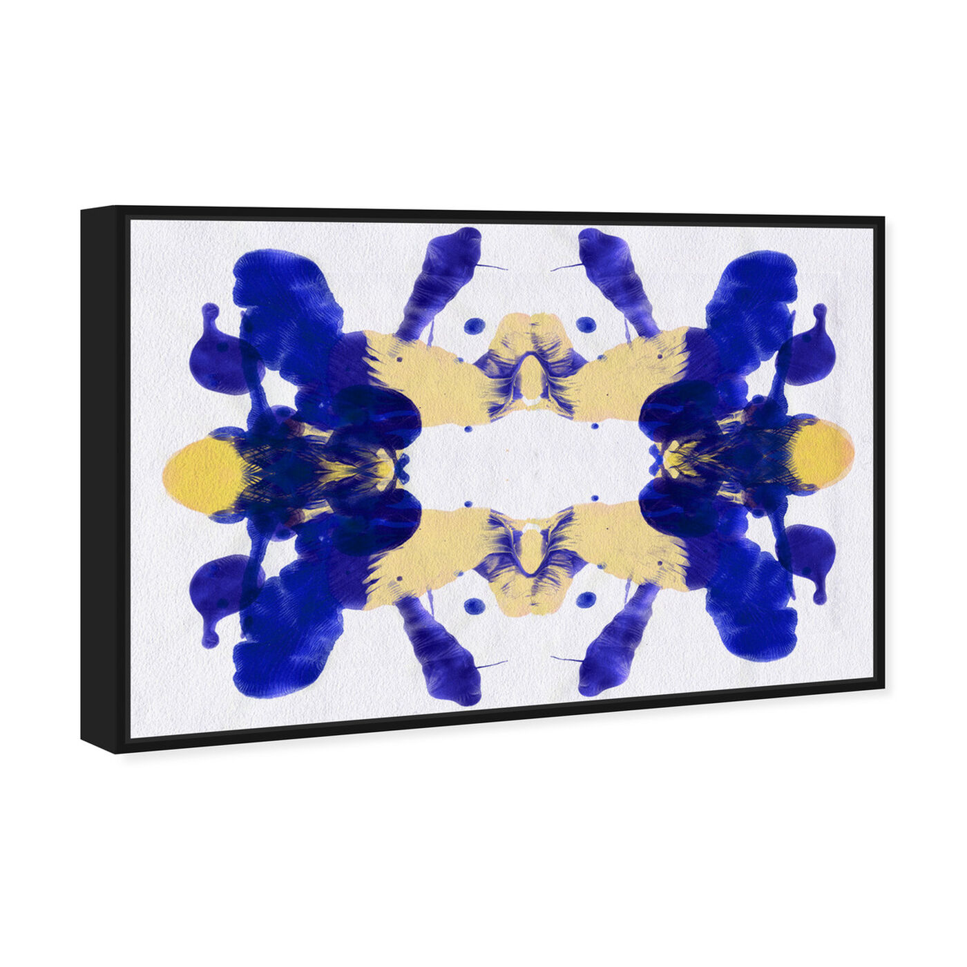 Angled view of Blue Veranda - Signature Collection featuring abstract and paint art.