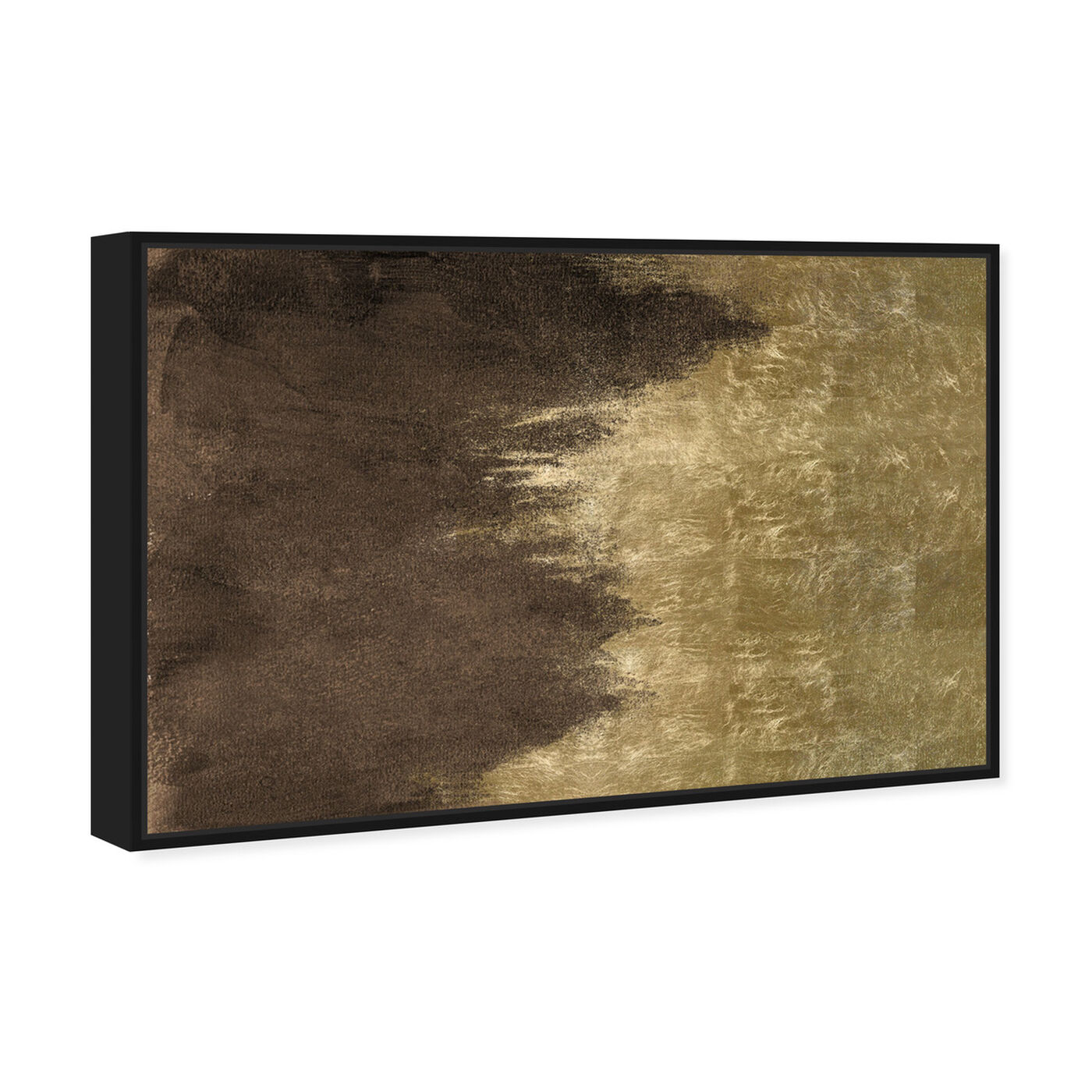 Angled view of Light Symphony in Brown featuring abstract and paint art.