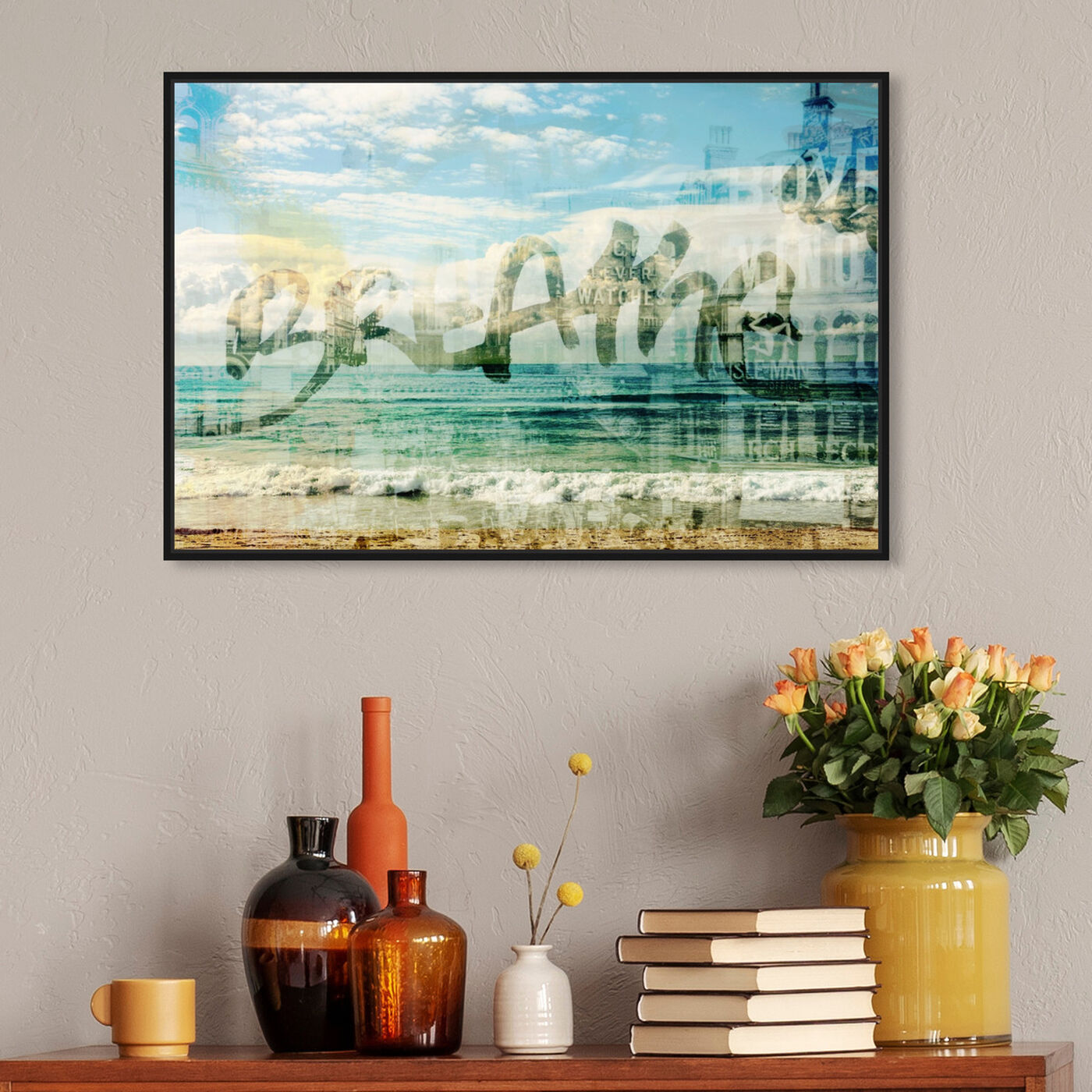 Hanging view of Breathe I featuring typography and quotes and inspirational quotes and sayings art.