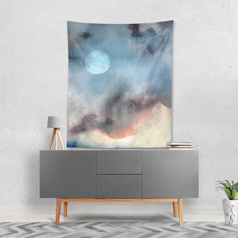 Blazing Moon Tapestry Art