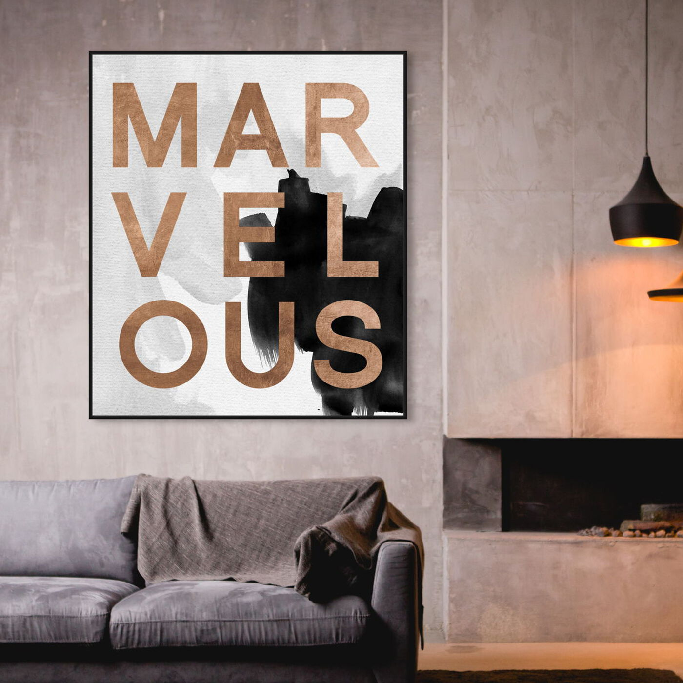 Hanging view of Marvelous Neutral featuring typography and quotes and beauty quotes and sayings art.