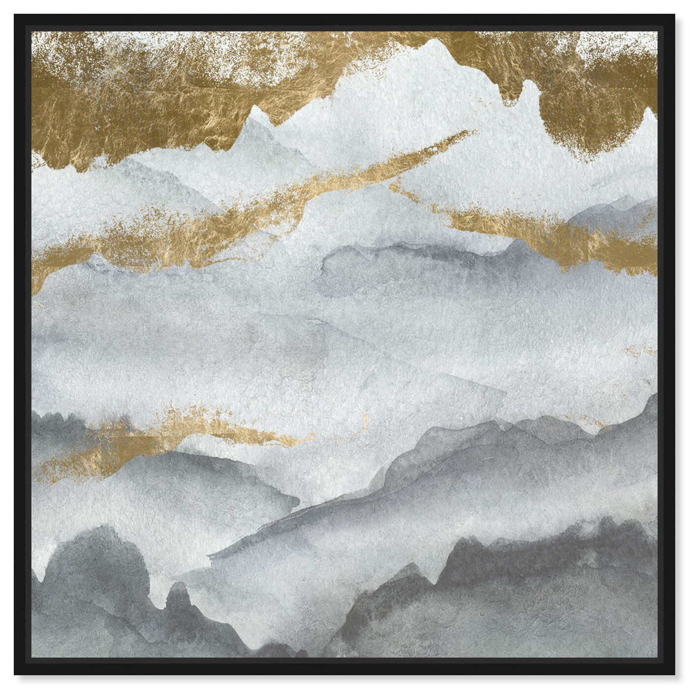 Front view of Tibet Mountains featuring abstract and watercolor art.