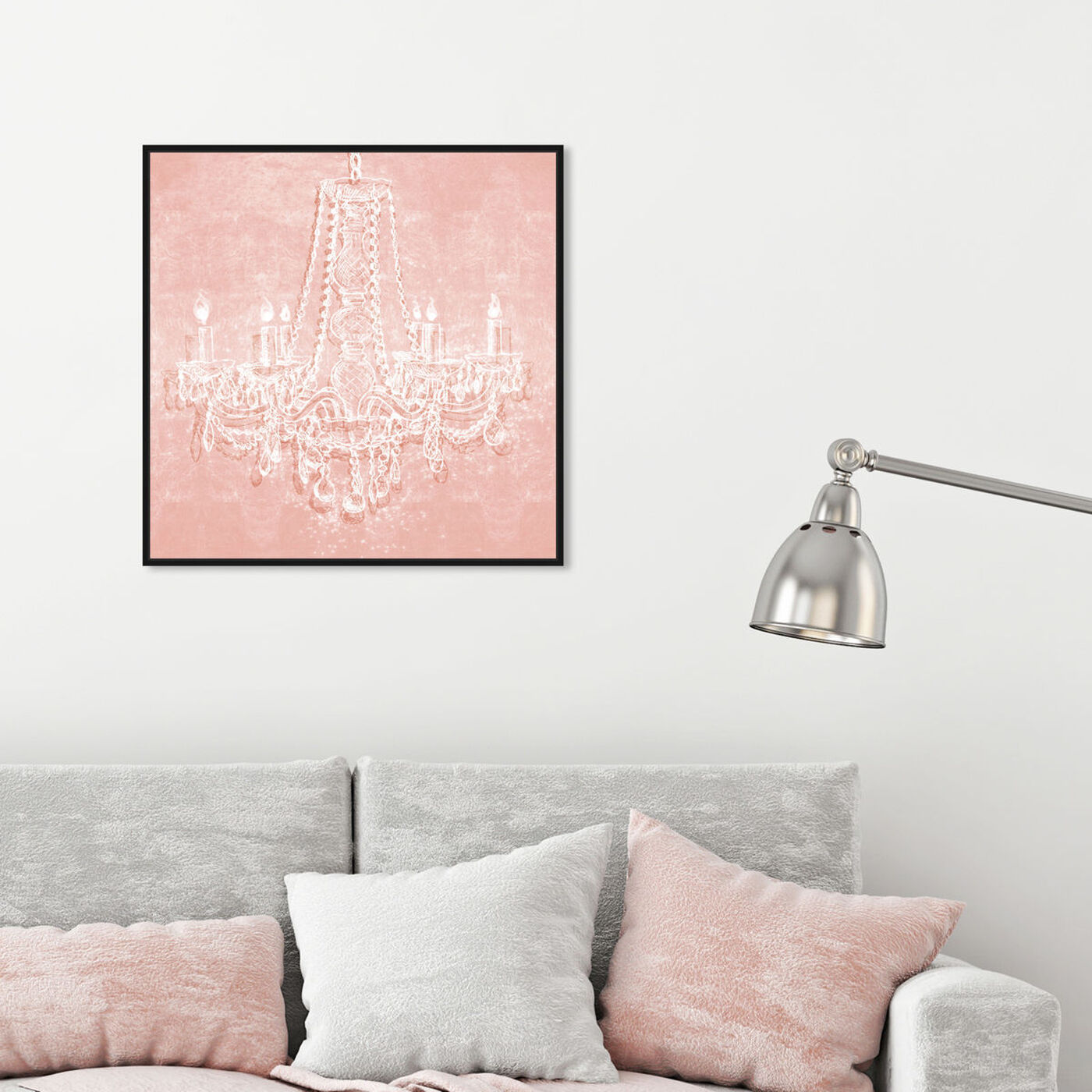 Hanging view of Light in the Rose featuring fashion and glam and chandeliers art.