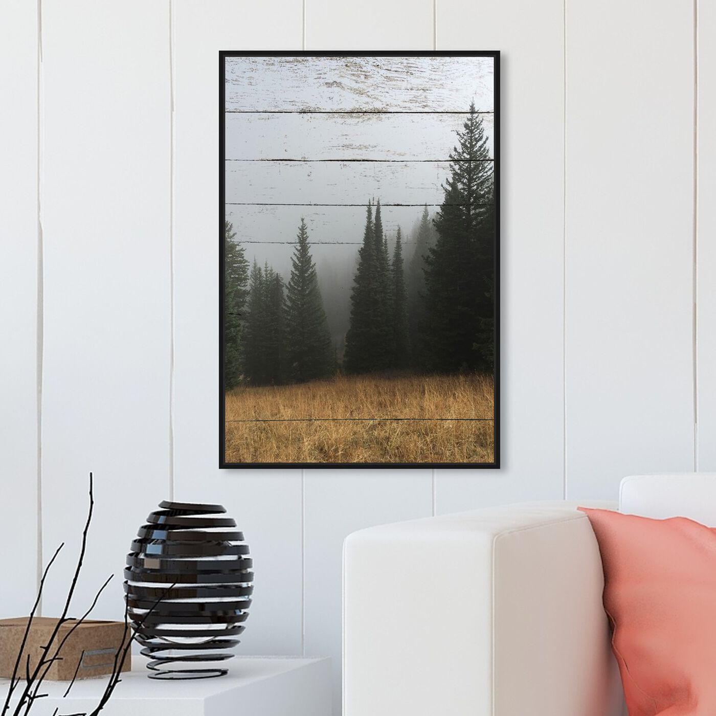 Hanging view of Wood Into The Woods featuring floral and botanical and trees art.
