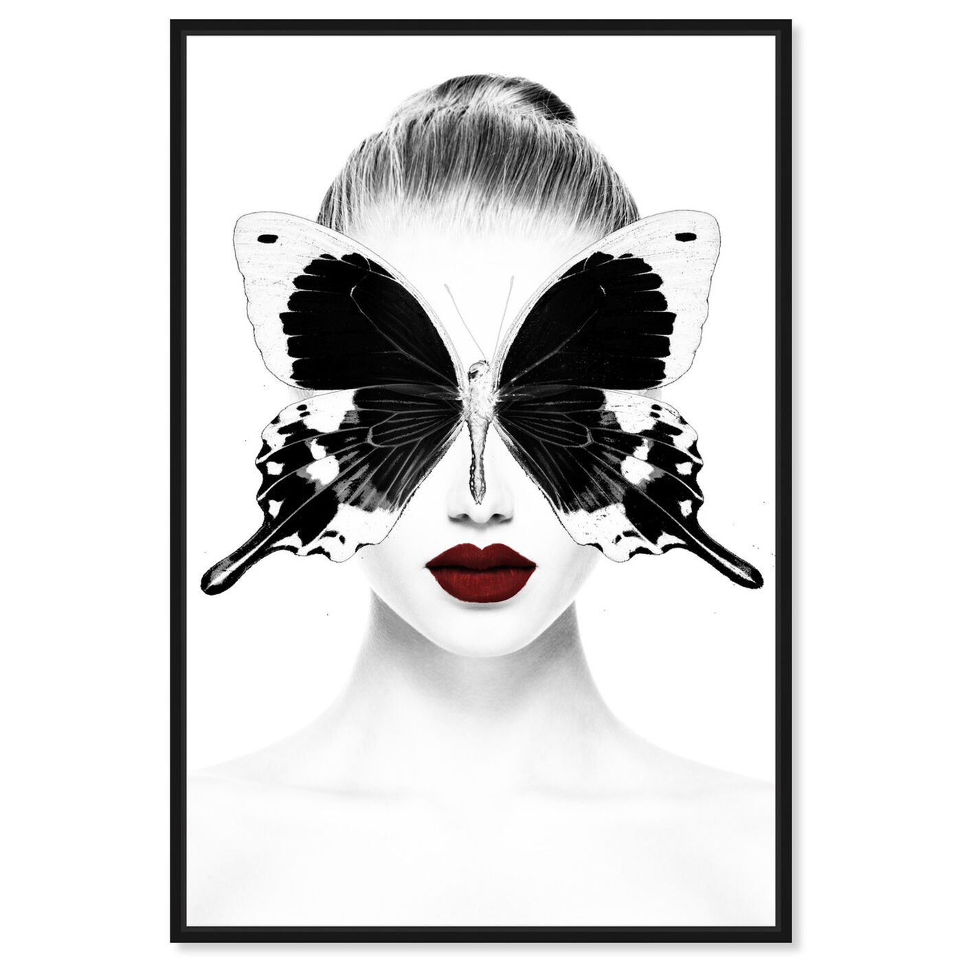 Front view of Red Duchess Toujours featuring fashion and glam and portraits art.