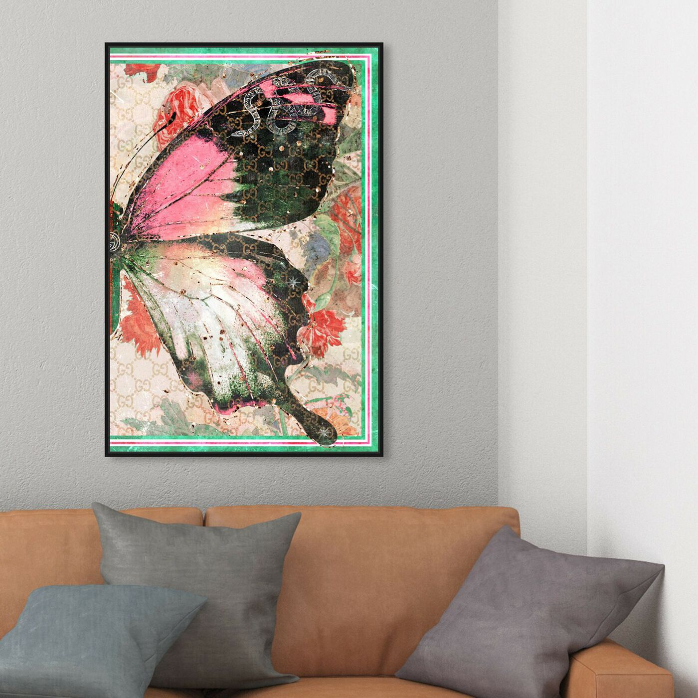 Hanging view of Butterfly Effect Symbol II featuring animals and insects art.