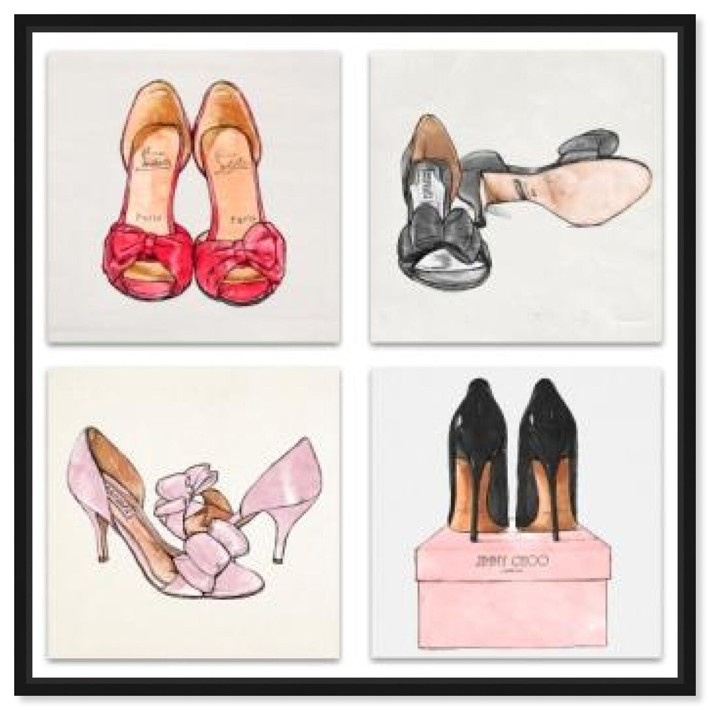 Front view of My Shoes - Set of 4 featuring fashion and glam and shoes art.