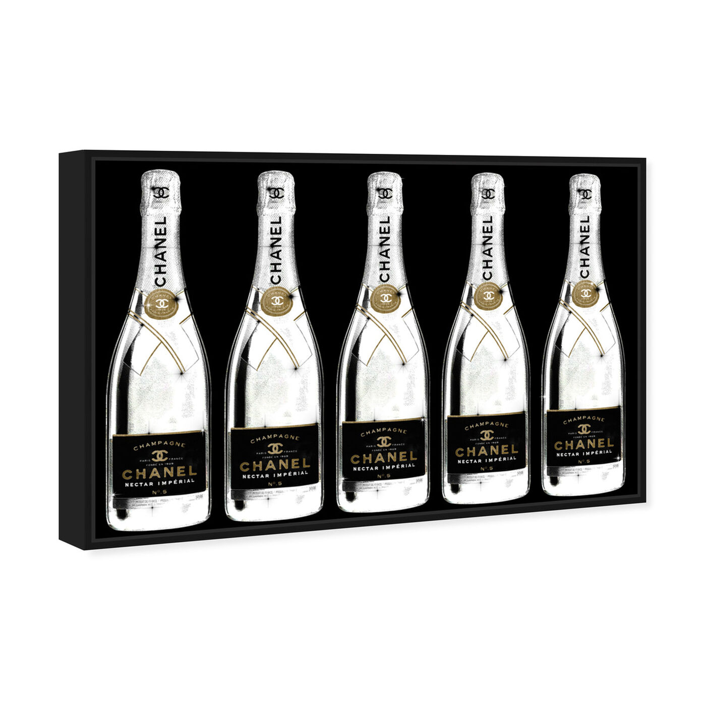 Angled view of Drink Up Champagne Black featuring fashion and glam and lifestyle art.
