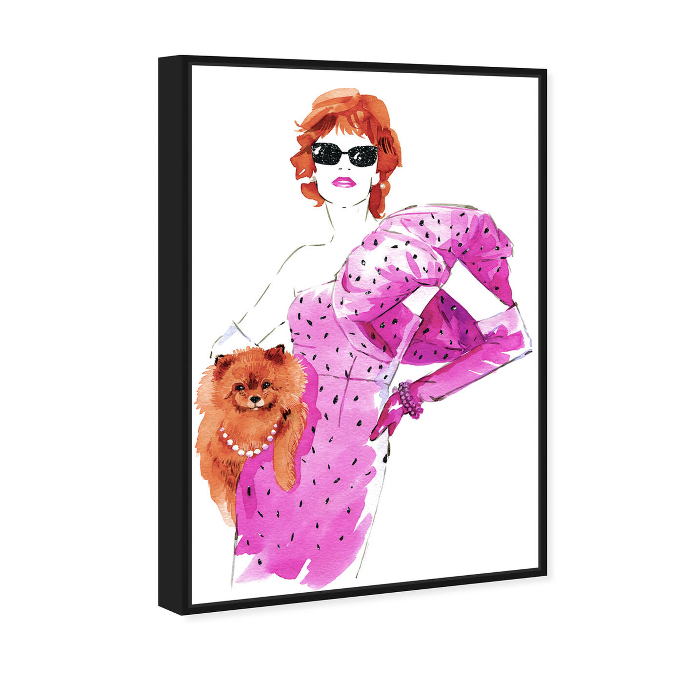 Angled view of Auburn Madame and Pooch featuring fashion and glam and dress art.