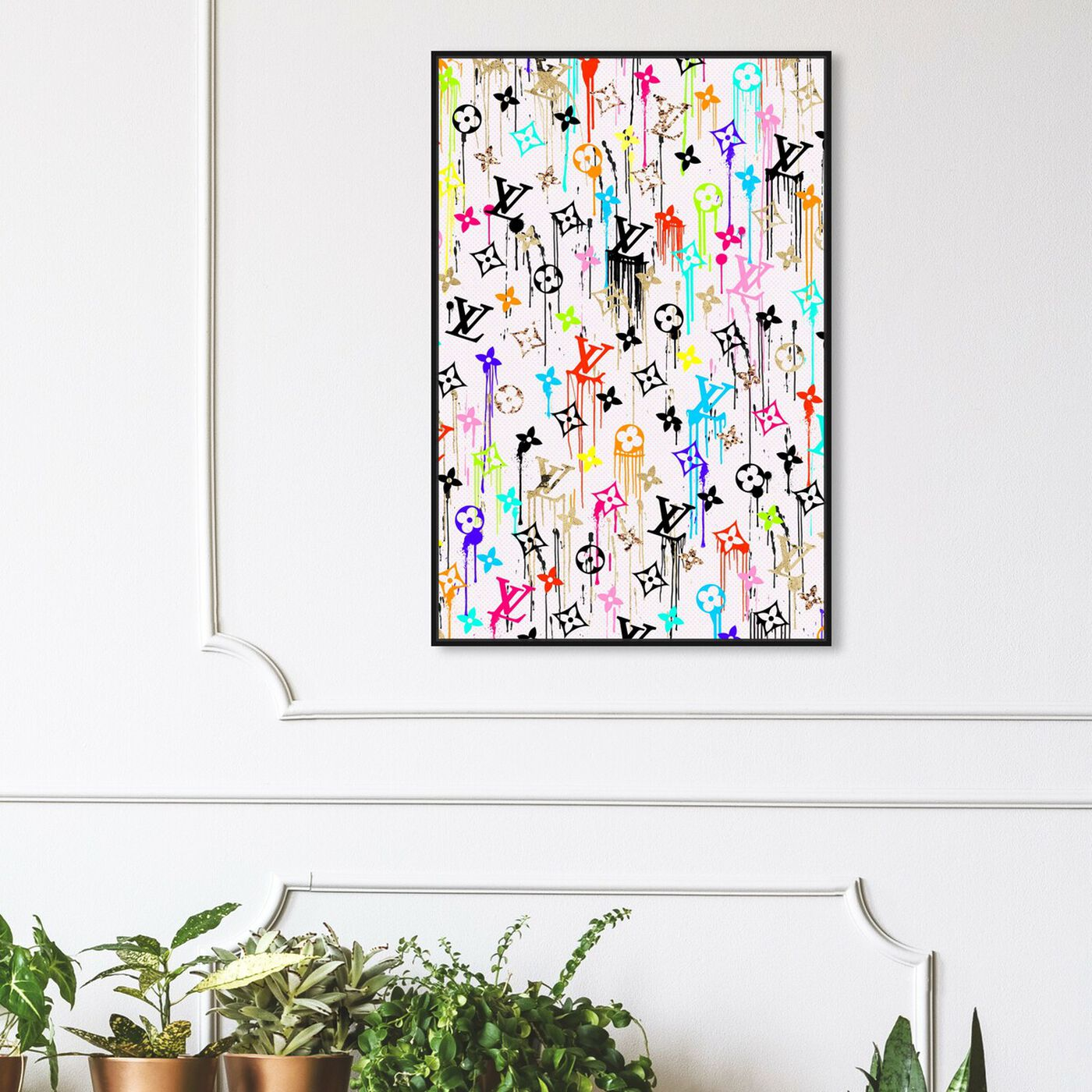 Hanging view of Vibrant Gold Glam Pattern featuring fashion and glam and lifestyle art.