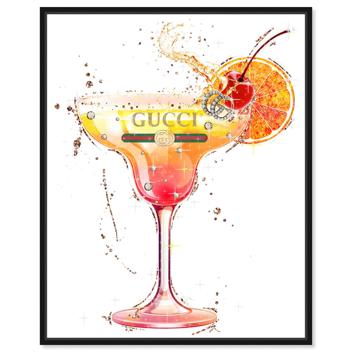 Front view of A Cherry on Top featuring drinks and spirits and cocktails art.