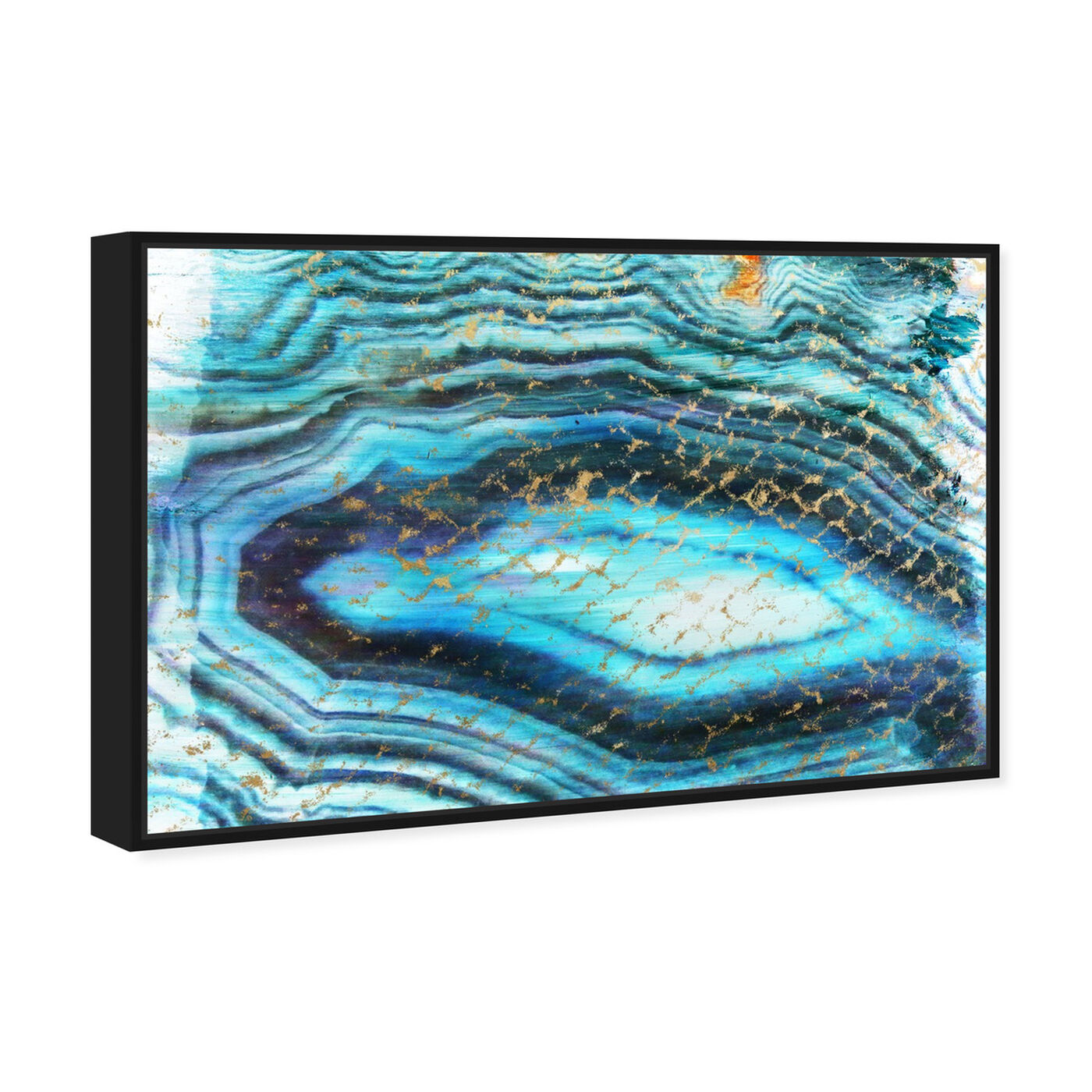 Angled view of Sea of Turquoise featuring abstract and crystals art.