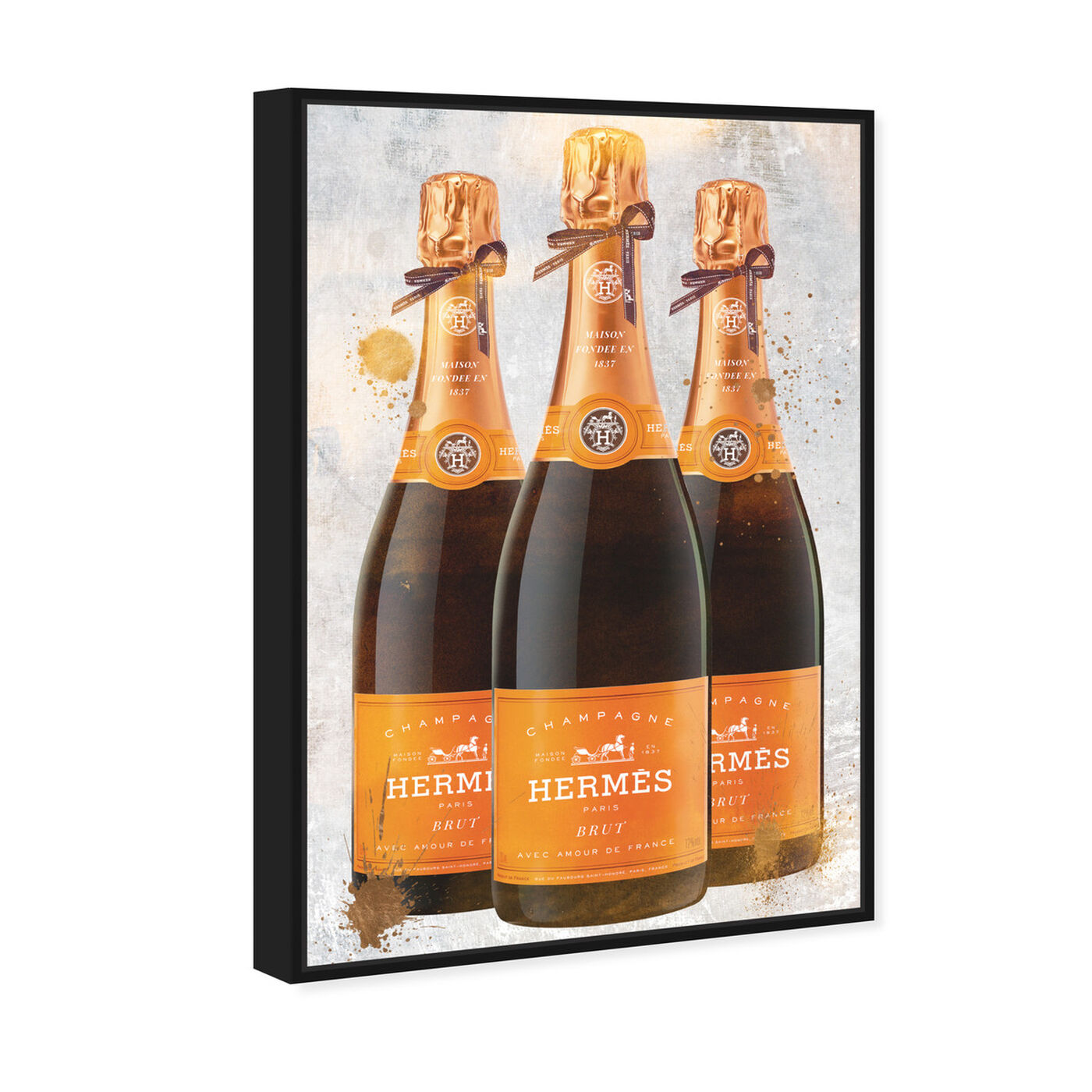Angled view of Bags and Bubbles Champagne featuring fashion and glam and lifestyle art.