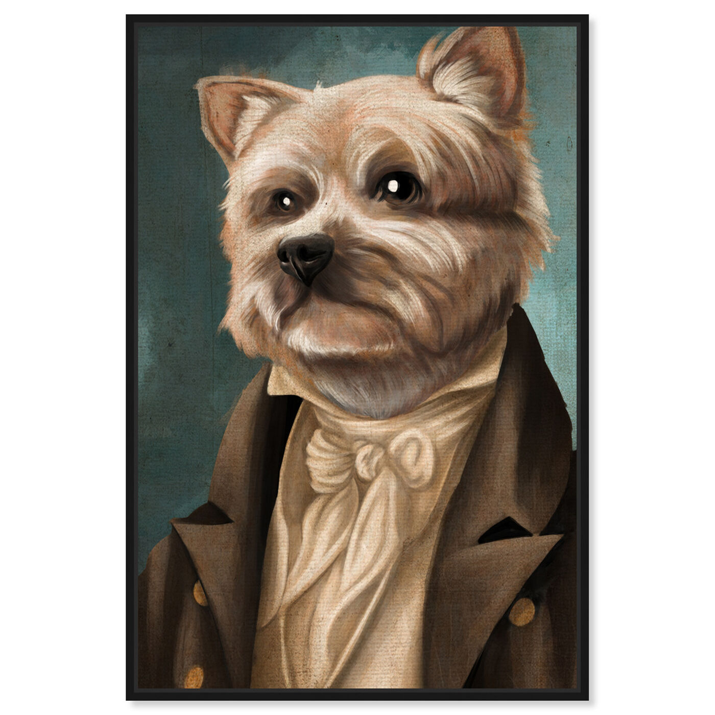 Front view of Yorkie Gentlemen featuring animals and dogs and puppies art.