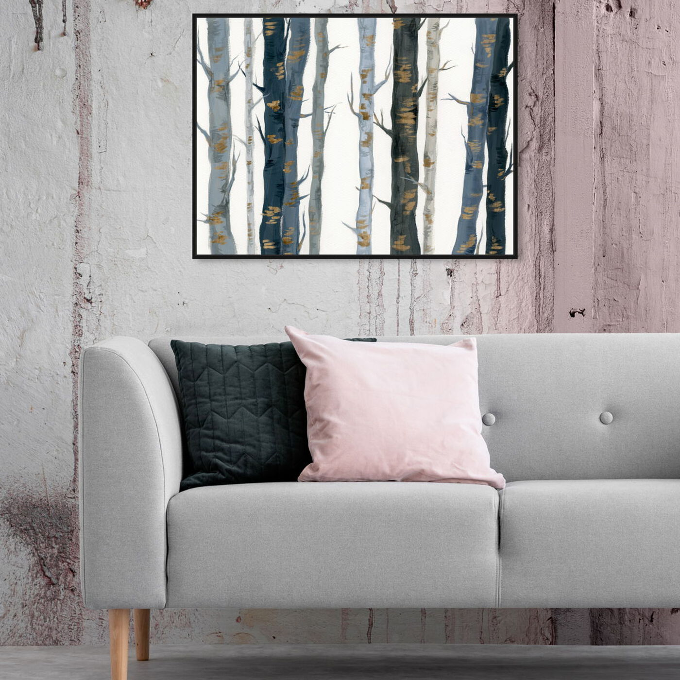 Hanging view of Behind the Woods featuring floral and botanical and trees art.