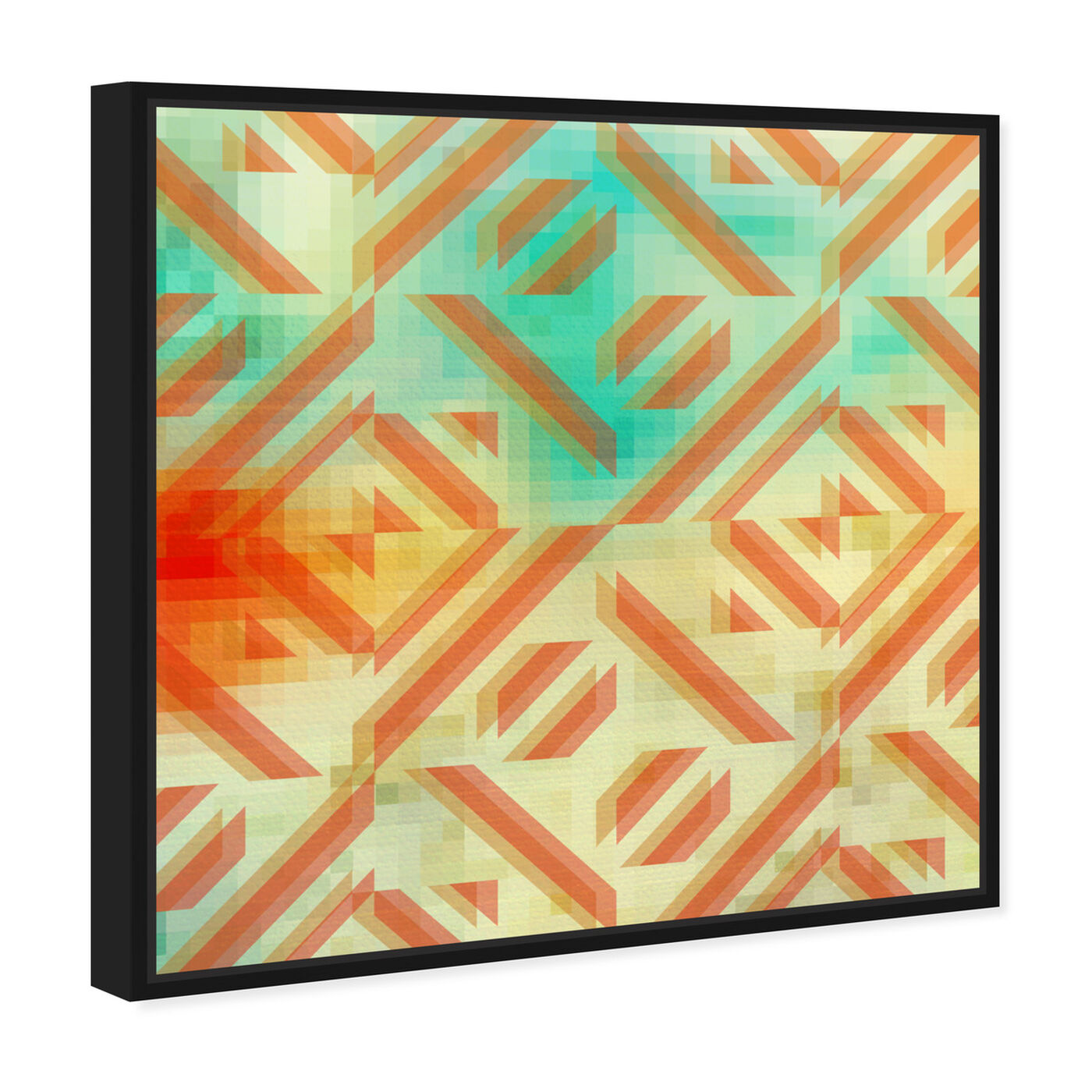 Angled view of Gaze featuring abstract and geometric art.