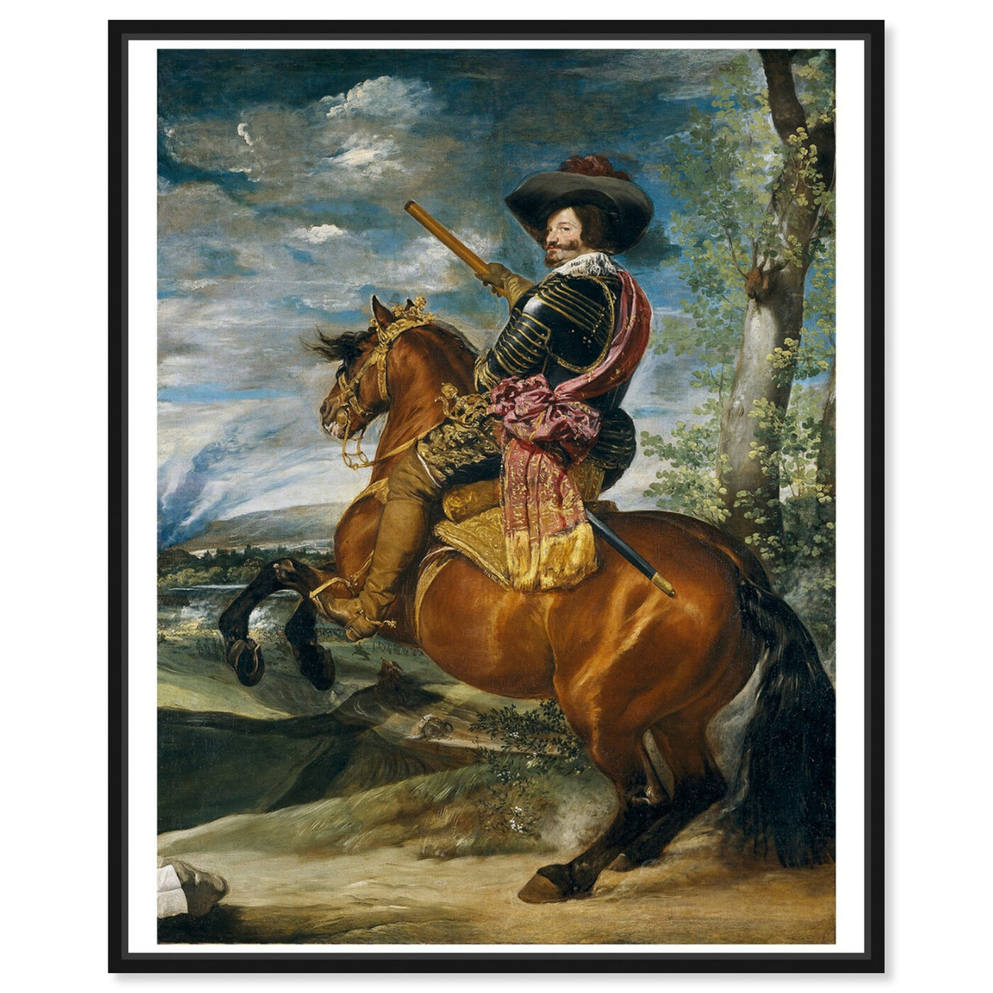 Front view of Velazquez - Count Duke of Olivares featuring classic and figurative and renaissance art.