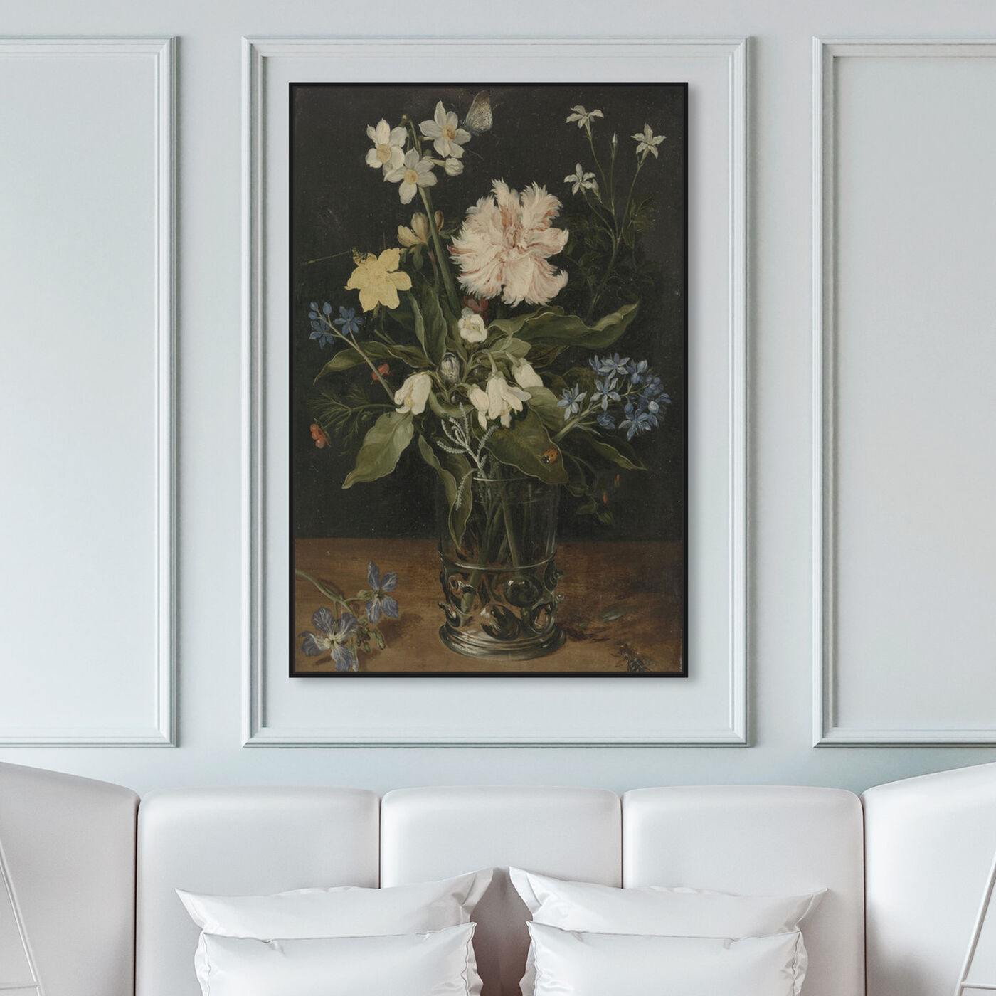 Hanging view of Flower Arrangement VI - The Art Cabinet featuring floral and botanical and florals art.