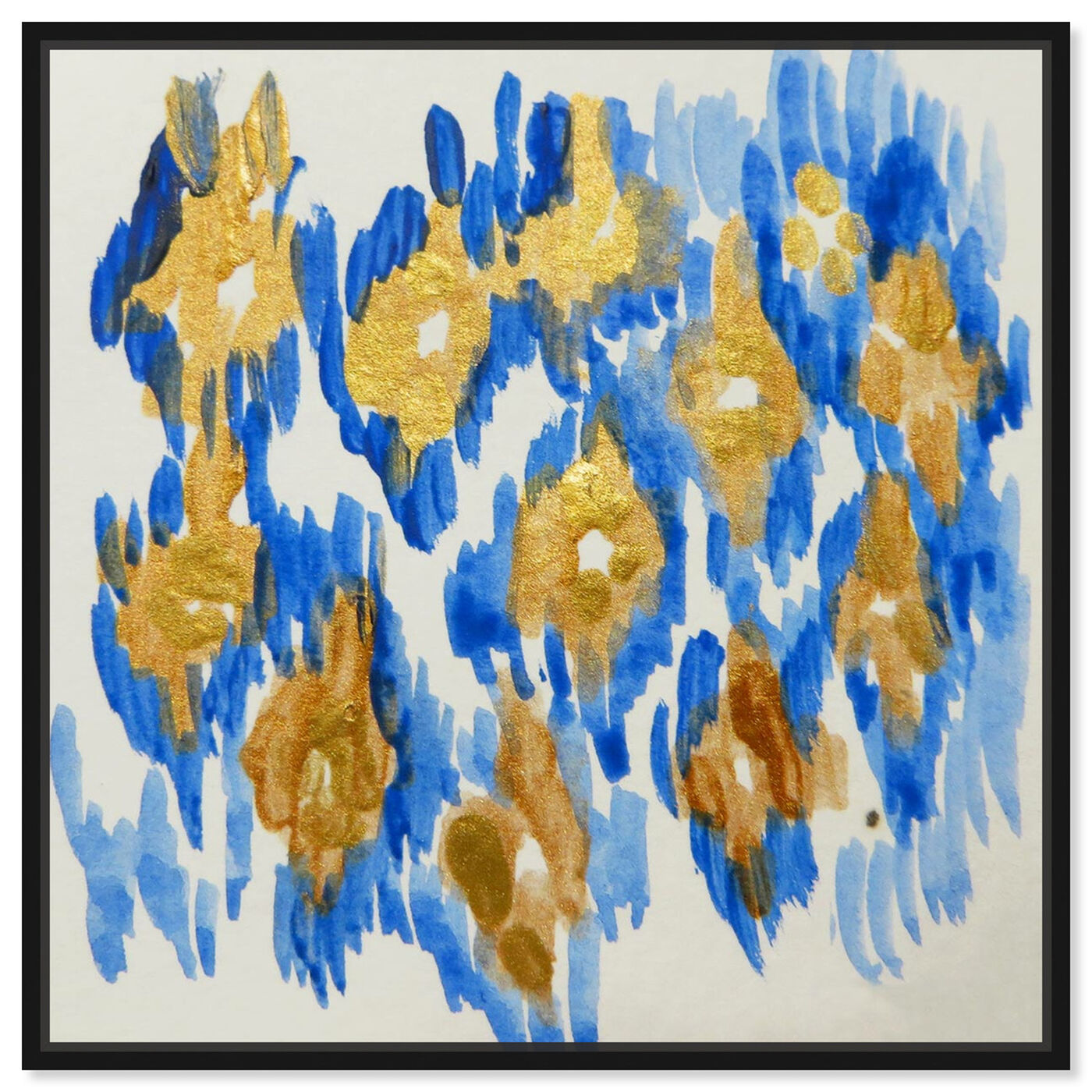 Front view of Carmela Azul - Signature Collection featuring abstract and paint art.