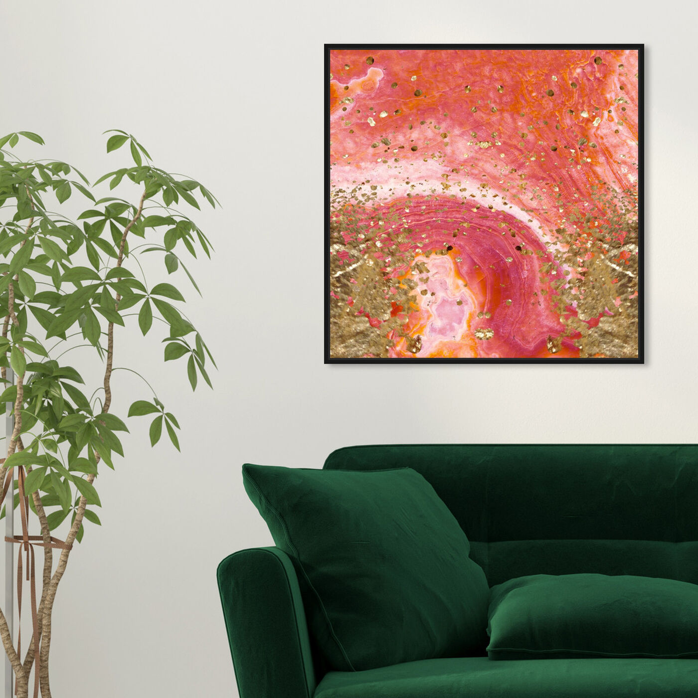 Hanging view of Koi Stone featuring abstract and crystals art.