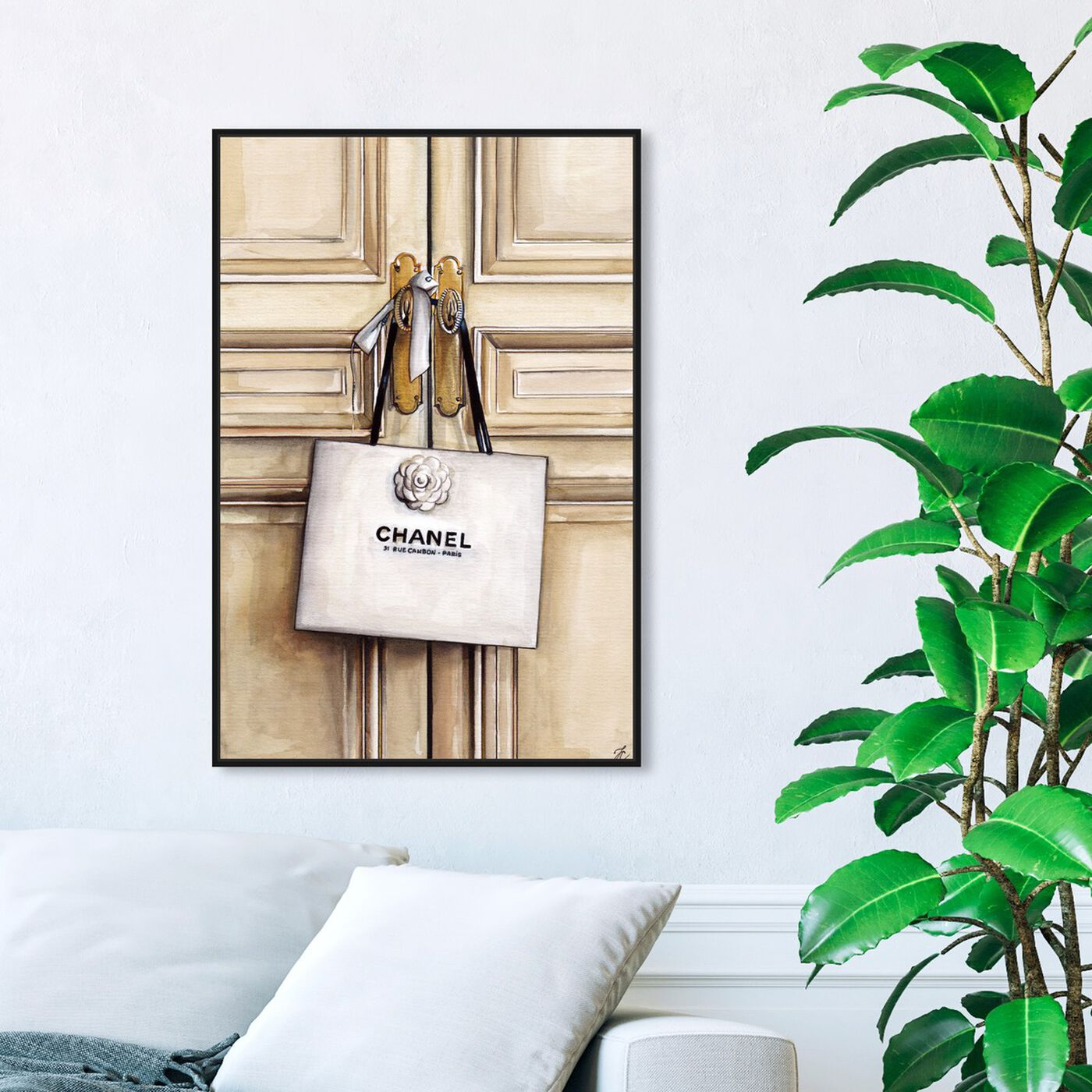 Hanging view of Doll Memories Couture White Bag featuring fashion and glam and lifestyle art.