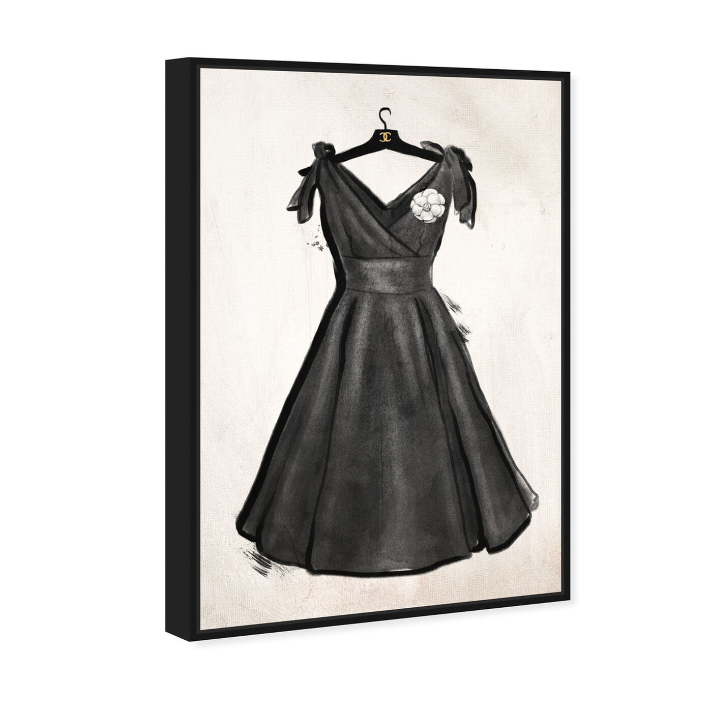 Angled view of Little Black Dress II featuring fashion and glam and dress art.