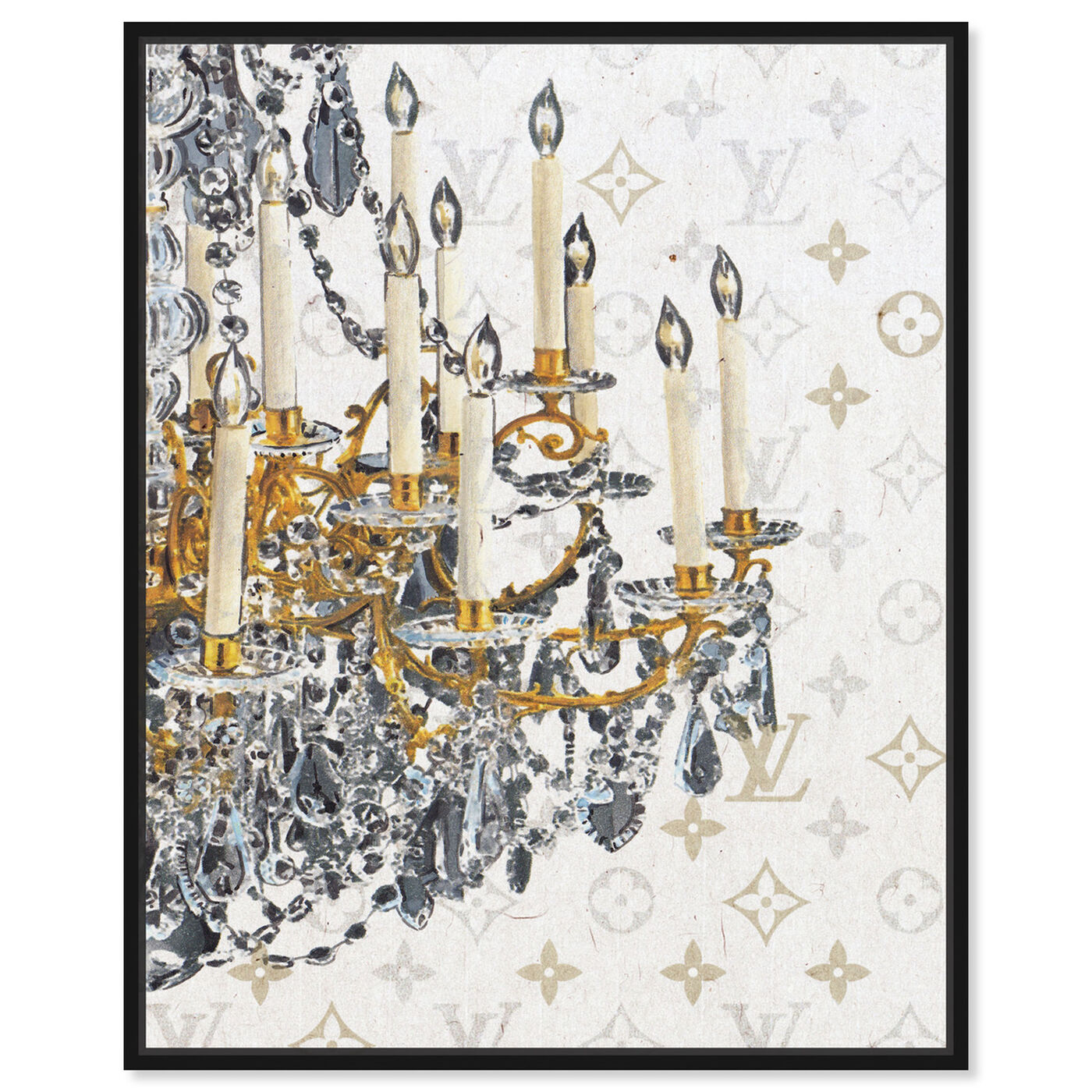Front view of Fancy Light II featuring fashion and glam and chandeliers art.