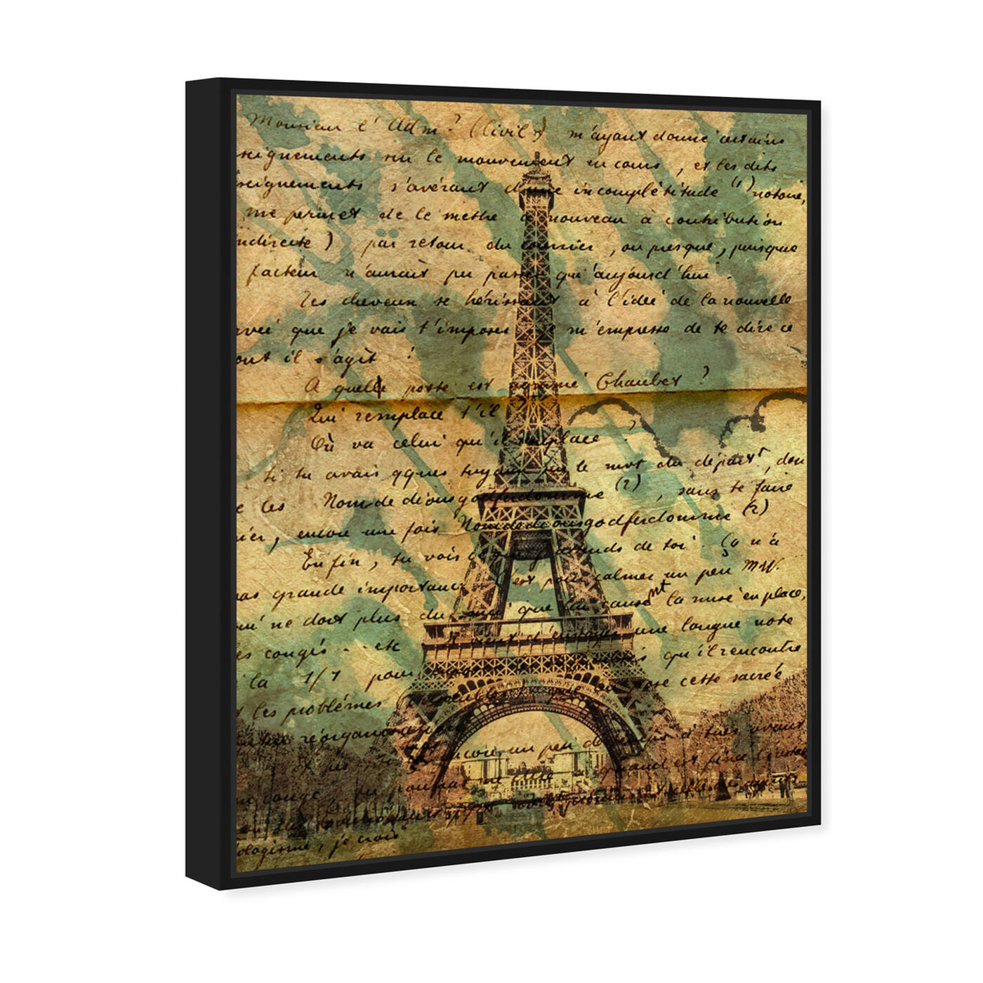 Angled view of Eiffel Words featuring architecture and buildings and european buildings art.