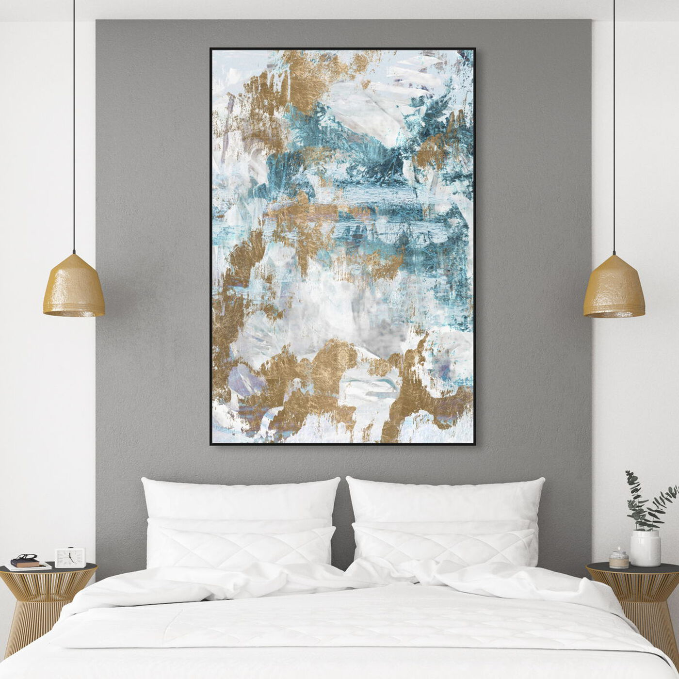 Hanging view of Walking on a Dream featuring abstract and paint art.