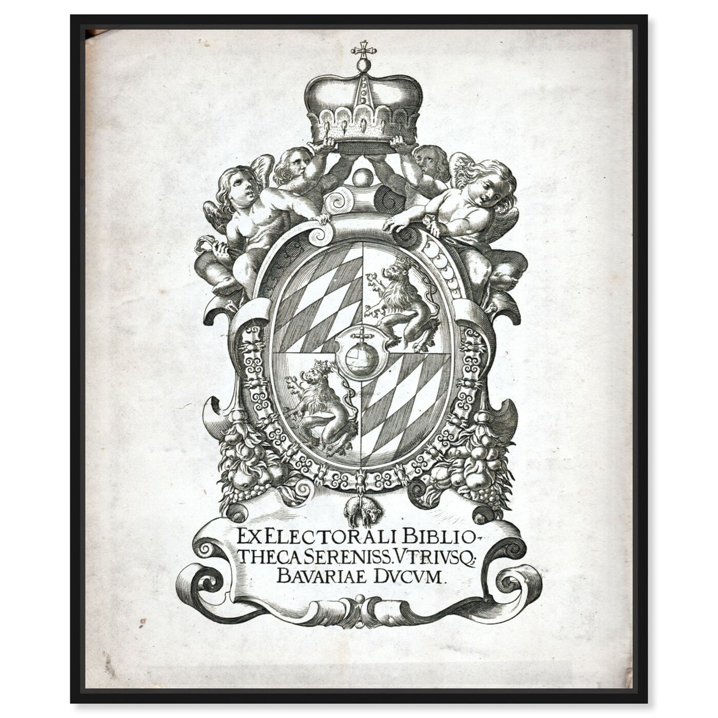 Front view of Armorial Engravings I featuring world and countries and european cultures art.