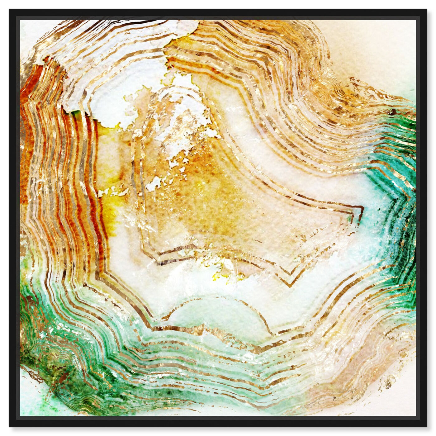 Front view of Butter Agate - Signature Collection featuring abstract and crystals art.
